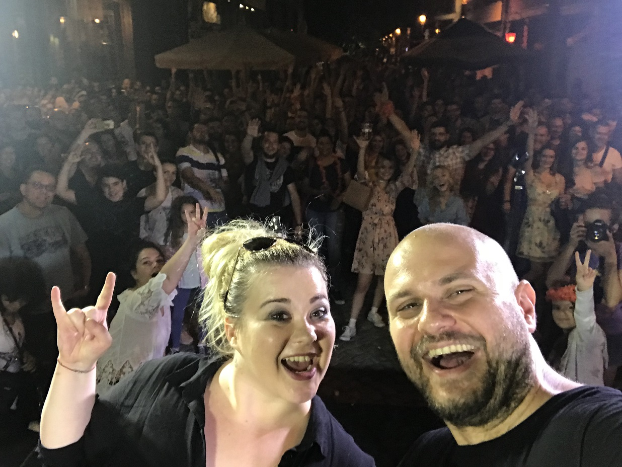 stand up comedy promoters Petya and Ivan Kirkov